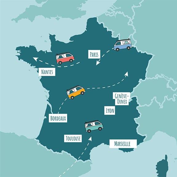roadsurfer map of France