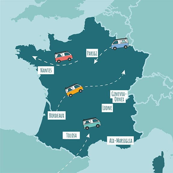 roadsurfer map of France