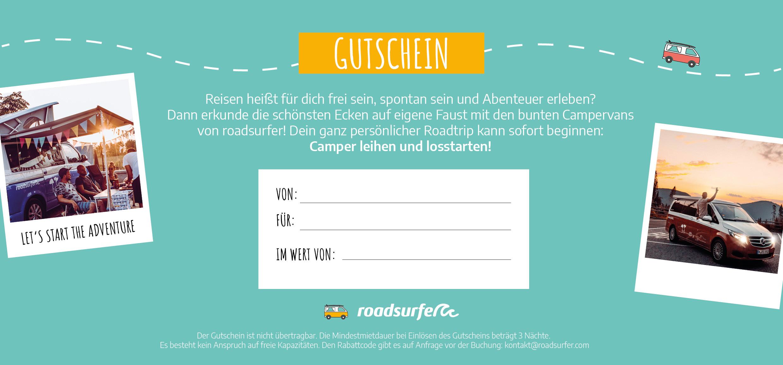 roadsurfer Gutschein