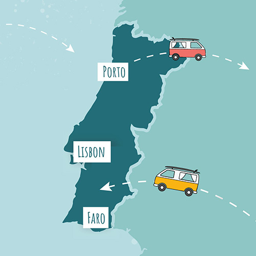roadsurfer locations Portugal