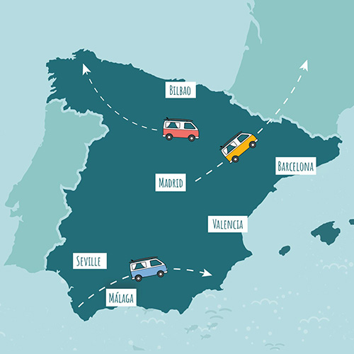roadsurfer map spain