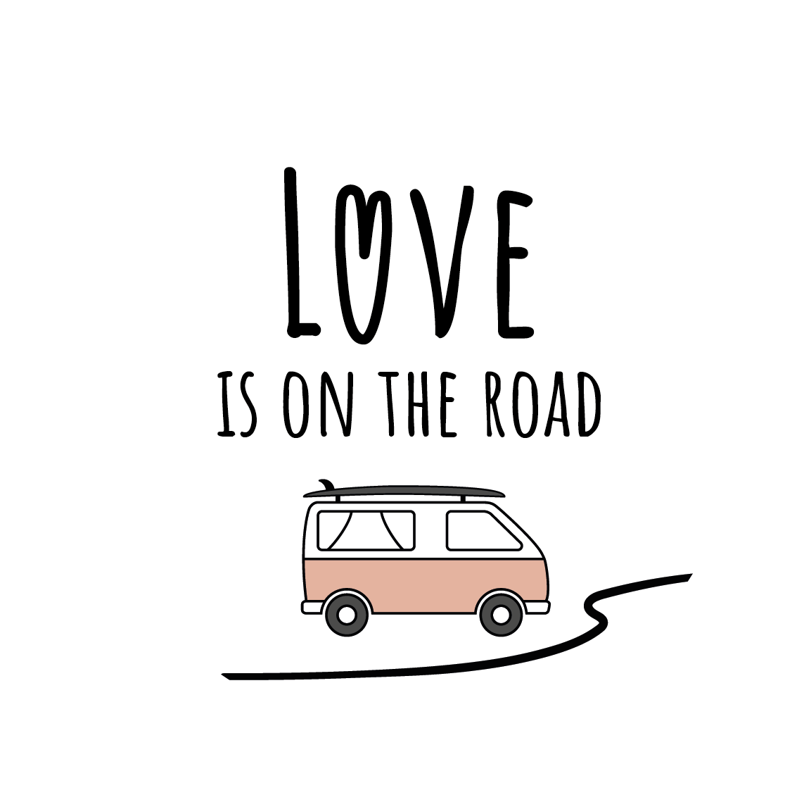 Logo love is on the road