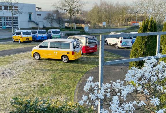 Campervans at roadsurfer Station Bochum