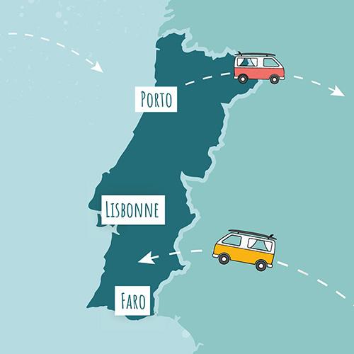 Location van Porto