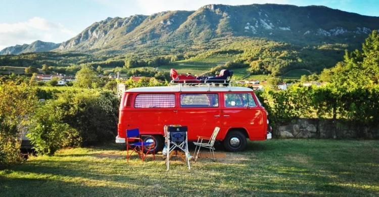 Campingplatz in den Weinbergen Slowenien